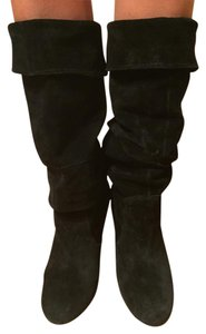 Steve Madden Suede Slouch Suede Slouch Sexy Leather Black Boots