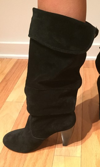 Steve Madden Suede Slouch Suede Slouch Sexy Leather Black Boots Image 1