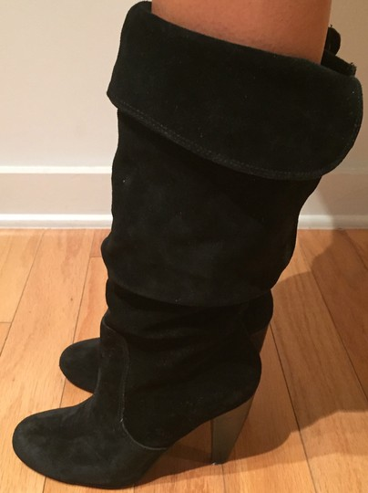 Steve Madden Suede Slouch Suede Slouch Sexy Leather Black Boots Image 10