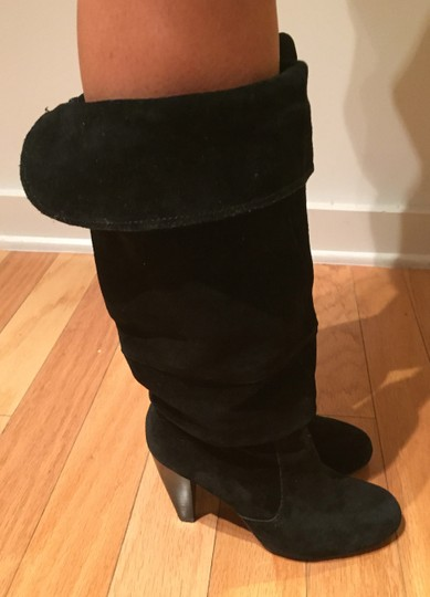 Steve Madden Suede Slouch Suede Slouch Sexy Leather Black Boots Image 3