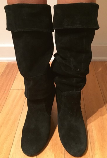 Steve Madden Suede Slouch Suede Slouch Sexy Leather Black Boots Image 6