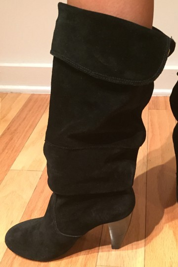 Steve Madden Suede Slouch Suede Slouch Sexy Leather Black Boots Image 7
