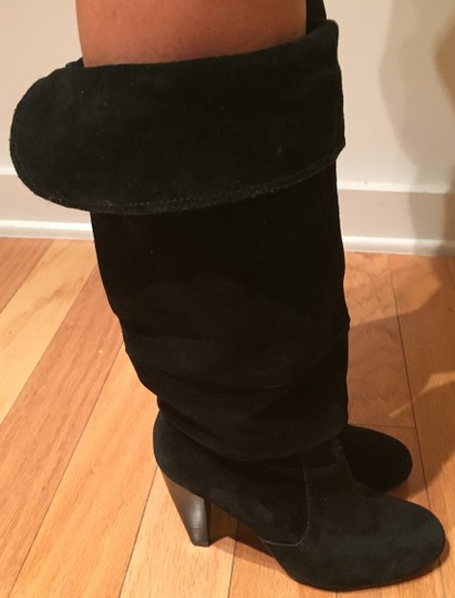 Steve Madden Suede Slouch Suede Slouch Sexy Leather Black Boots Image 9
