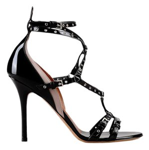 Valentino Strappy Dressy Women Studded Black Sandals