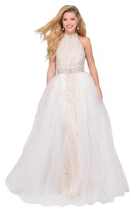 Jovani Beaded Tulle Prom Lace Dress
