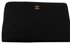 Chanel Large Quilted Zip Around Wallet