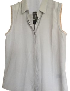 Kenneth Cole Button Down Shirt Silver