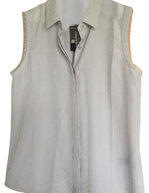 Preload https://img-static.tradesy.com/item/20627366/kenneth-cole-silver-button-down-top-size-10-m-0-1-650-650.jpg