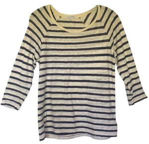 James Perse Striped Top ecru and navy