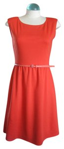 Old Navy short dress Orange Fit And Flair Boat Neck on Tradesy