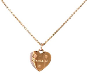 Coach Coach Rose Gold Heart Charm 18