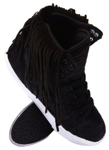 Supra Fringe Hem Pony Hair Urban Hippie Black Athletic
