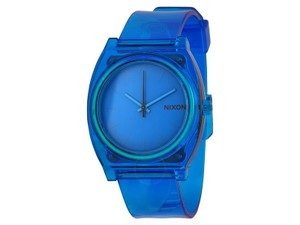 Nixon A119-1781 Time Teller Unisex Blue Rubber Bracelet With Blue Analog
