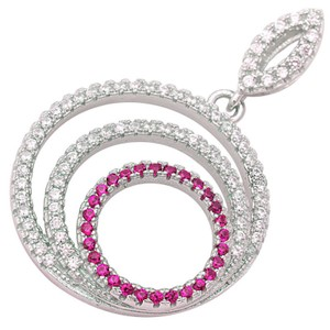 9.2.5 Unique ruby and white sapphire multi circle pendant