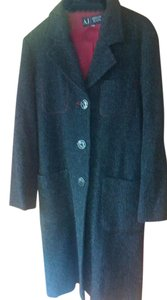Emporio Armani Tweed Sleek And Timeless Made In Italy Pea Coat