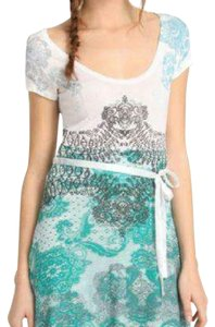 Desigual short dress teal/white on Tradesy