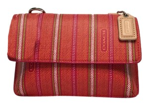 Coach 64630 Legacy Weekend Ticking Stripe Phone Wallet Crossbody