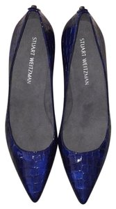 Stuart Weitzman Blue Sea Crocodile Pumps