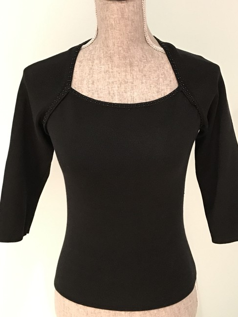 Other Silk Tops Beaded Tops Beaded Top Black Image 1