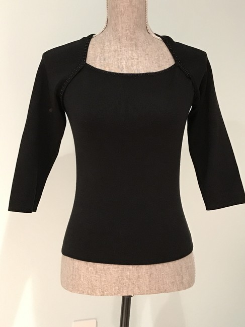 Other Silk Tops Beaded Tops Beaded Top Black Image 2