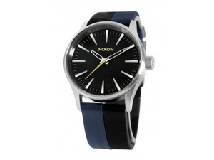Nixon A377-1938 Sentry Multicolor Leather Bracelet With Black Analog Dial