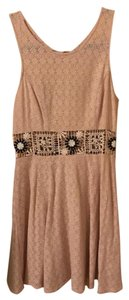 Free People short dress Pink Lace Sleeveless on Tradesy