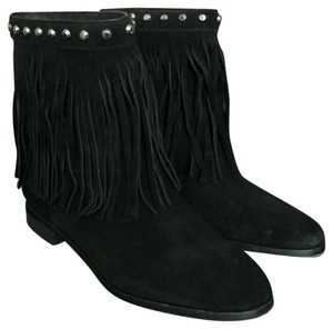 MICHAEL Michael Kors Suede Studded Ankle Black Boots