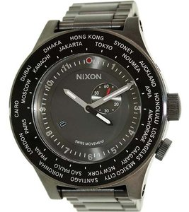 Nixon A379-131 Passport Men's Black Metal Bracelet With Black Dial Watch