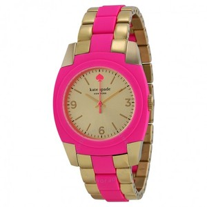 Kate Spade New! Kate Spade Gold Bazooka Pink Skyline Watch