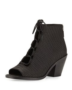Eileen Fisher Slew Woven Ankle Black Boots