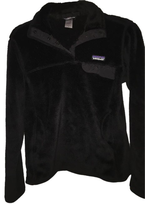Item - Black Womens Re-tool Snap-t Fleece Pullover Activewear Outerwear Size 8 (M, 29, 30)