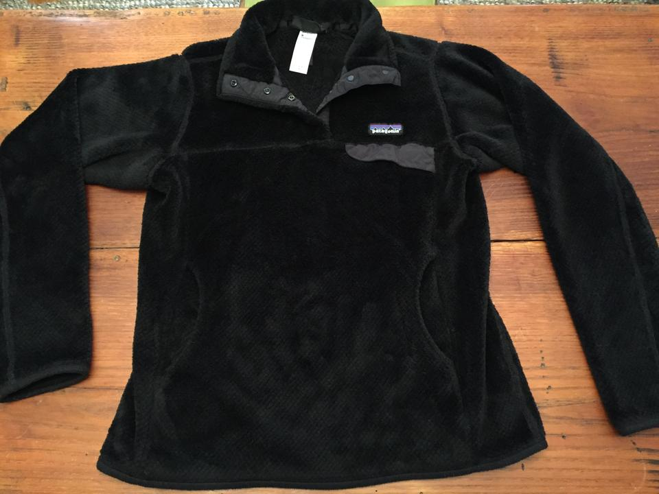 2f0fadf9585b Patagonia Black Womens Re-tool Snap-t Fleece Pullover Activewear ...