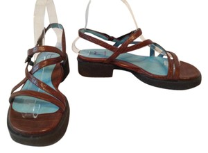 Thierry Rabotin Rabotin Velcro Brown Sandals