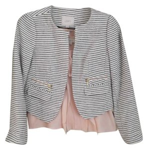 Ann Taylor LOFT Jacket Business Tweed Cream Blazer