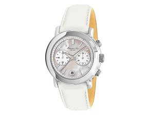 Kenneth Cole KC2733 Women's White Leather Bracelet With White Analog Dial