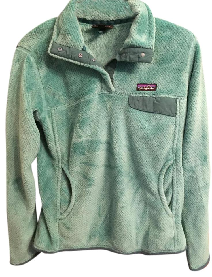 2825b80b2f4 Patagonia Teal Aqua Womens Re-tool Snap-t Fleece Pullover Activewear ...