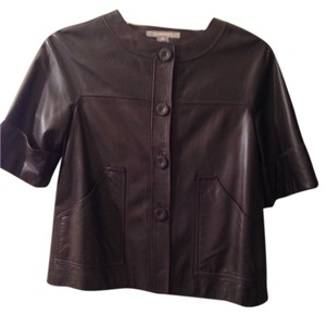 Ellen Tracy Chocolate Brown Leather Jacket