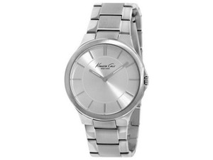 Kenneth Cole KC4875 Slim Women's Silver Metal Bracelet With Silver Dial Watch