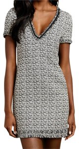 Anthropologie short dress Melange Tweed Shift Fringe Textured on Tradesy