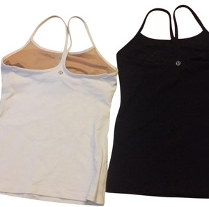 lululemon size 6 tank top black and white
