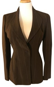 Giorgio Armani Button Brown with light stripes Blazer