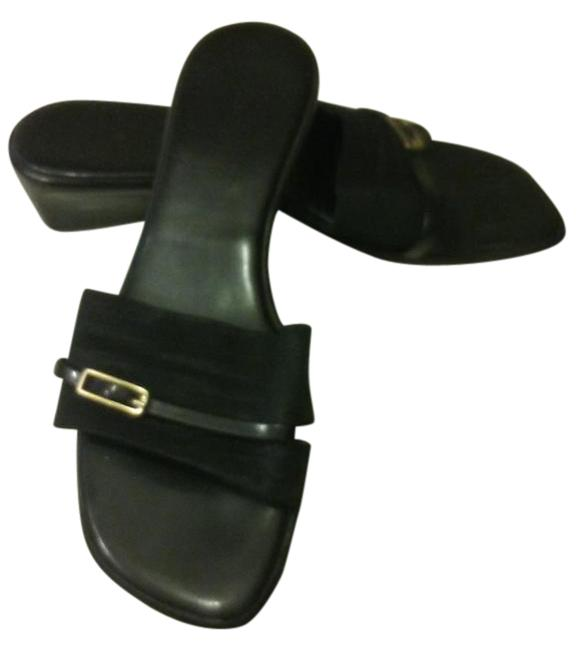 Item - Black Dress Silp-on Sandals Size US 7 Regular (M, B)