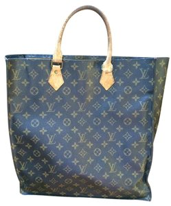 Louis Vuitton Tote in Signature Logo with leather