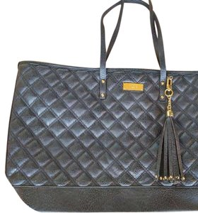 BCBG Paris Tote in Black with gold tone hardware