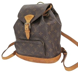Louis Vuitton Lv Leather Monogram Tote Backpack