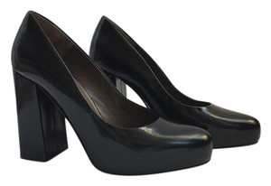 Marni Chunky Leather Black Pumps