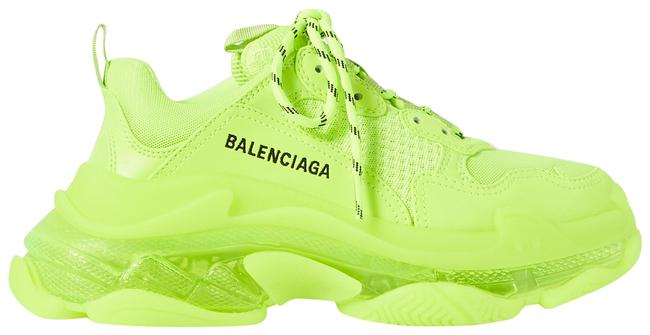 Item - Neon Yellow Eu34/35/36/37/39 Triple S Clear Sole Sneakers Size EU 37 (Approx. US 7) Regular (M, B)