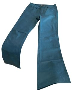 Gap Leather Boot Cut Pants Teal blue