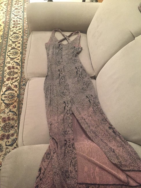 Snakeskin print Maxi Dress by Alexia Admor Long Maxi Crisscross Strap Flattering Image 3
