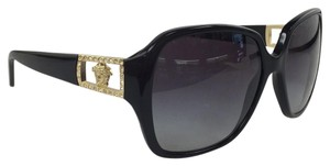 Versace New Versace Mod 4242 -B GB1/8G Medosa Logo with Crystal Gold Black Plastic Style Sunglasses 135mm
